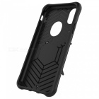 Mini Smile TPU + PC Back Case w/ Holder Stand for IPHONE X - Black