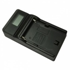 Ismartdigi F550 Portable LCD USB Mobile Camera Battery Charger for Sony - Black