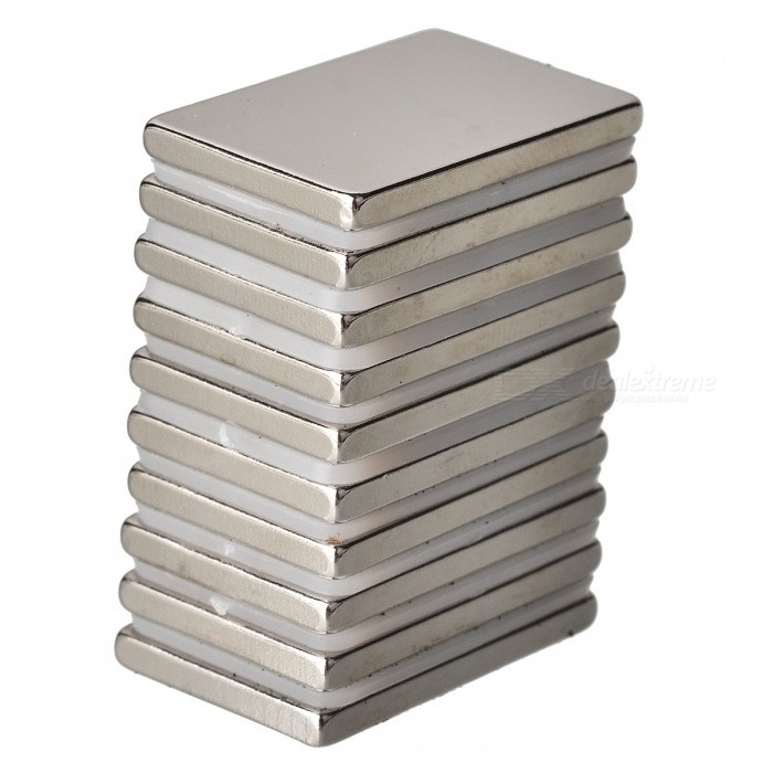 30mm*20mm*3mm Rectangle Super Strong NdFeB Magnet - Silver (10 PCS)Magnets Gadgets<br>Form  ColorSilverQuantity1 setNumber10MaterialNdFeBPacking List10 x Magnets<br>