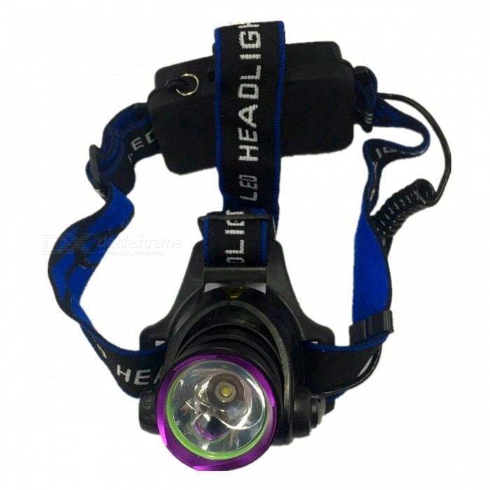 ZHAOYAO Outdoor Rechargeable T6 LED Headlight Super Bright Headlamp for Camping / Hunting / FishingHeadlamps<br>Form  ColorBlack + Blue + Multi-ColoredQuantity1 piecesMaterialAluminium alloyEmitter BrandCreeLED TypeXM-L2Emitter BINT6Color BINWhiteNumber of Emitters1Working Voltage   3.7 VPower Supply2*18650Current4.2 ATheoretical Lumens1200 lumensActual Lumens1200 lumensRuntime2-4 hourNumber of Modes3Mode ArrangementMid,Low,Slow StrobeMode MemoryNoSwitch TypeForward clickySwitch LocationTailcapLensGlassReflectorAluminum SmoothBand Length10 cmCompatible CircumferenceMost PeopleBeam Range100-300 cmPacking List1 x Headlamp1 x Charging Cable<br>