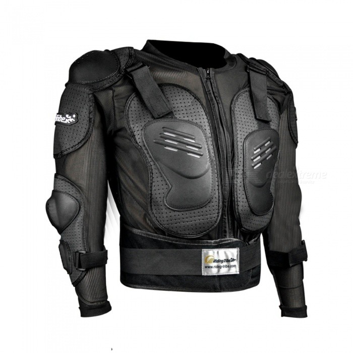 Riding Tribe HX-P15 Long-Sleeved Safety Body Armor Jacket for Outdoor Motorcycle Riding - Black (XXL)Motorcycle Clothes &amp; Shoes<br>Form  ColorBlackSizeXXLModelHX-P15Quantity1 pieceMaterialPolyesterShade Of ColorBlackTypeBody ArmorFront Length52 cmBack Length70 cmSleeve Length64 cmChest Girth118 cmShoulder Width52 cmPacking List1 x Armor<br>