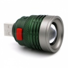 Portable Mini Zoomable 3-Mode USB Rechargeable Handy Powerful LED Flashlight - Green