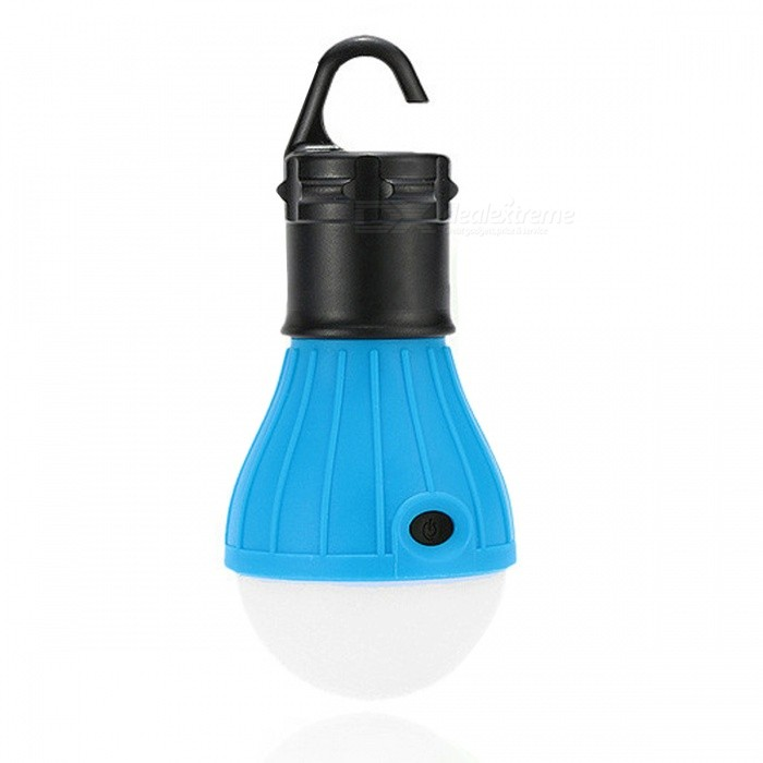 Portable Outdoor Hand-held Hanging Tent Camping Lamp LED Bulb - BlueOther Connector Bulbs<br>Color BINWhite LightMaterialPlasticForm  ColorBlue + BlackQuantity1 DX.PCM.Model.AttributeModel.UnitPower3WRated VoltageOthers,- DX.PCM.Model.AttributeModel.UnitConnector TypeOthers,-Emitter TypeLEDTotal Emitters3Actual Lumens/ DX.PCM.Model.AttributeModel.UnitColor Temperature12000K,Others,-DimmableNoPacking List1 x LED Portable Light<br>