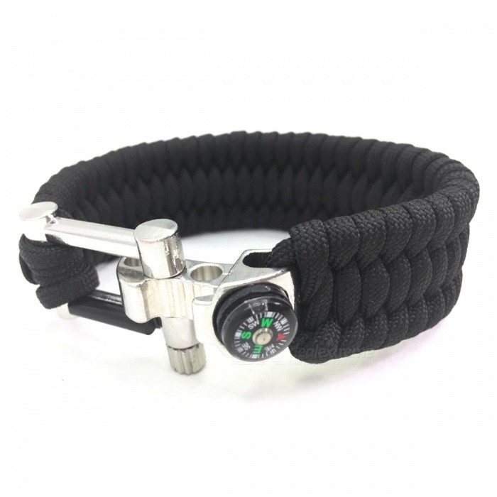 Multifunctional U Shaped Alloy Buckle Umbrella Rope Bracelet - Black (2 PCS)Fire Starting Gear<br>Form  ColorBlackQuantity2 piecesMaterialSeven core umbrella rope + alloyBest UseBackpacking,Camping,Mountaineering,TravelPacking List2 x Umbrella rope bracelets<br>