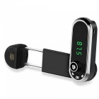KELIMA Car Mount Phone Bracket, Bluetooth Handsfree MP3 Player, FM Transmitter AUX Receiver - Black