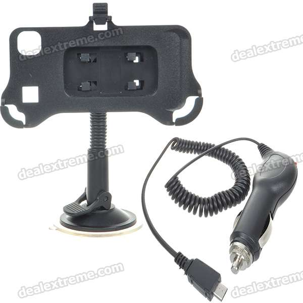 Universal Car Windshield Swivel Mount and Car Charger for Samsung I9000