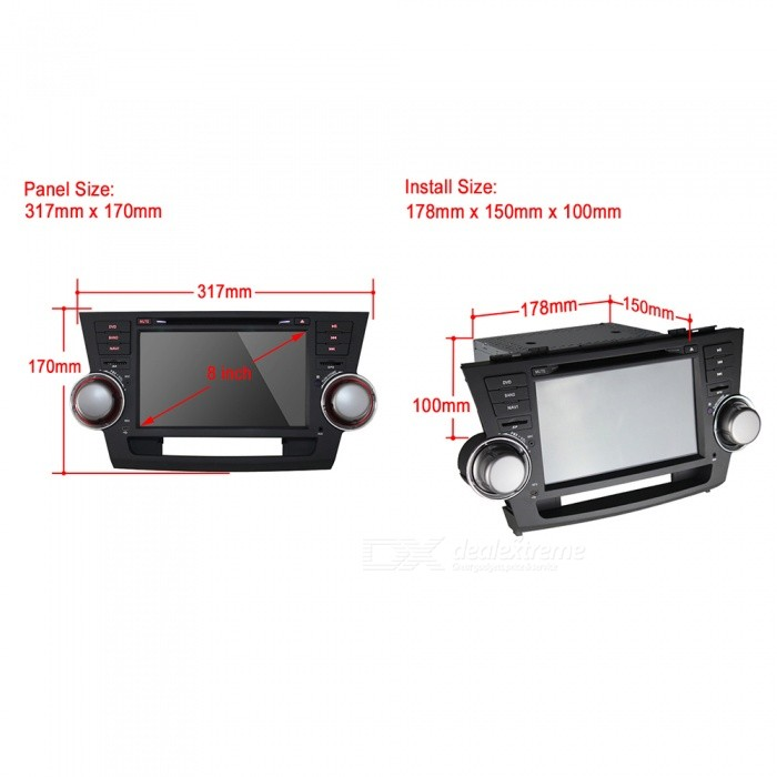 r joui j 8822n 8 android 6 0 1 hd double din cran tactile de voiture gps toyota bluetooth. Black Bedroom Furniture Sets. Home Design Ideas