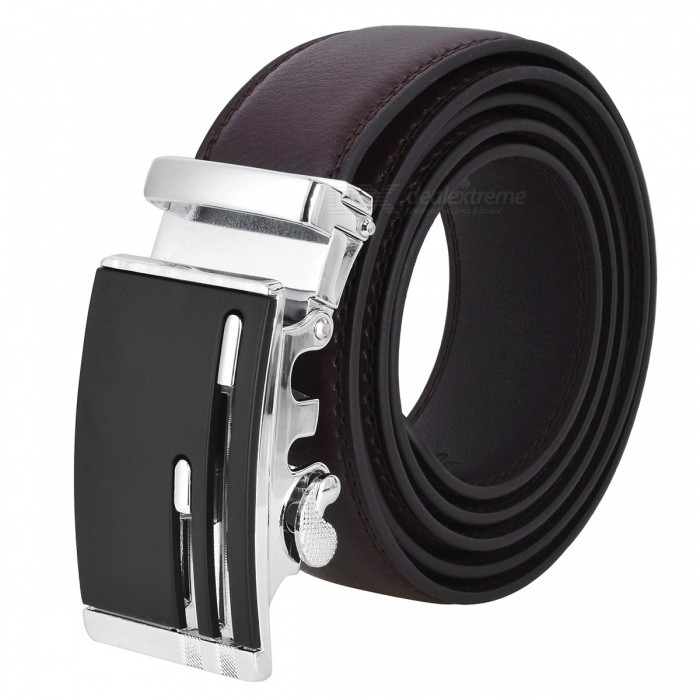 Men's Stylish Automatic Buckle Belt - Brown