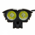ZHAOYAO T6 2-LED Super Bright 4-Mode Bike Light Headlight - Black