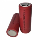 SPO 3.7V 6000mAh 26650 Lithium Battery - Red (2 PCS)