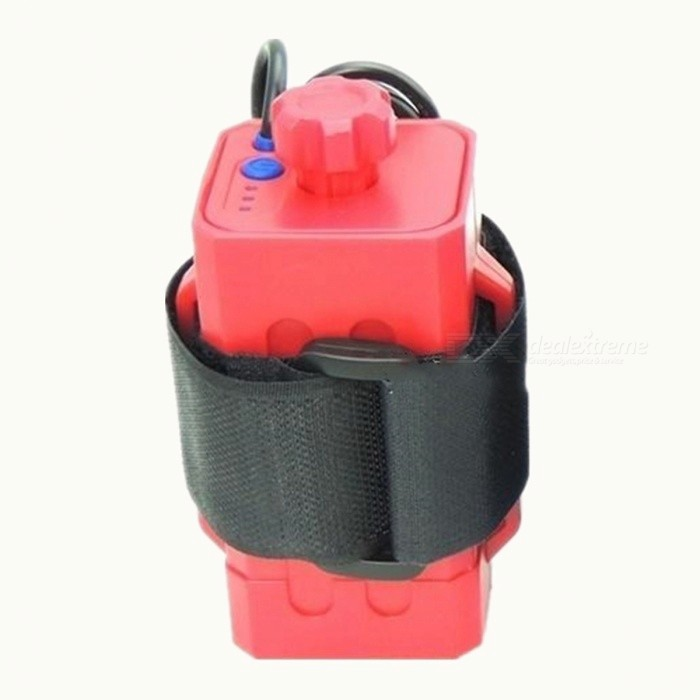 ZHAOYAO 8.4V Waterproof Rechargeable T6 Headlamp Battery Rubber Case - Black + Red
