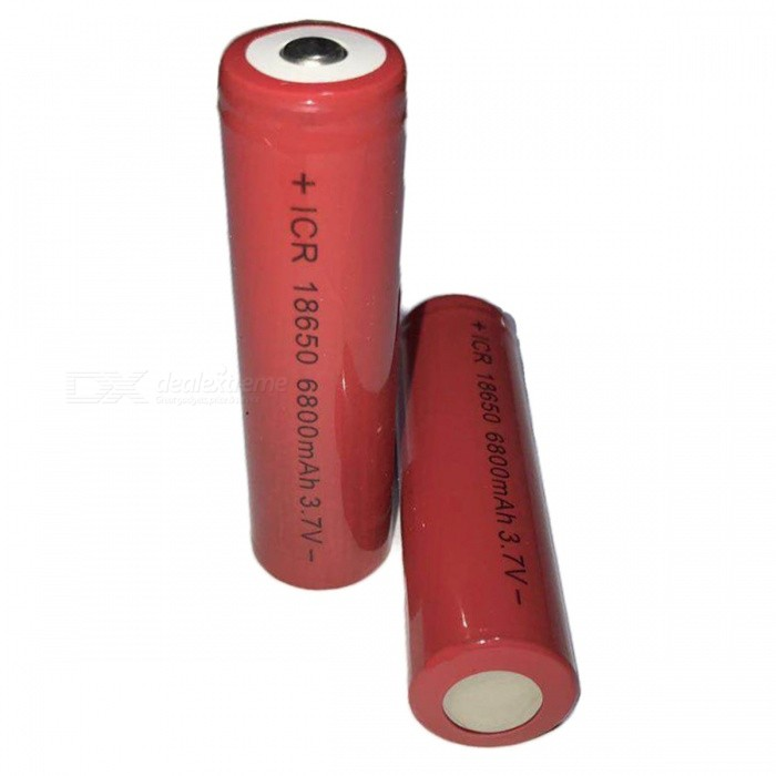SPO 3.7V 6800mAh 18650 Lithium Battery - Red (2 PCS)Others<br>Form  ColorRedModelKDY-001Quantity2 piecesMaterialLithium ionSuitable Flashlight Type18650Packing List2 x 18650 batteries<br>