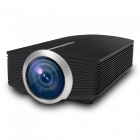 YG500 Portable Mini LCD Projector for Home Cinema - Black (EU Plug)