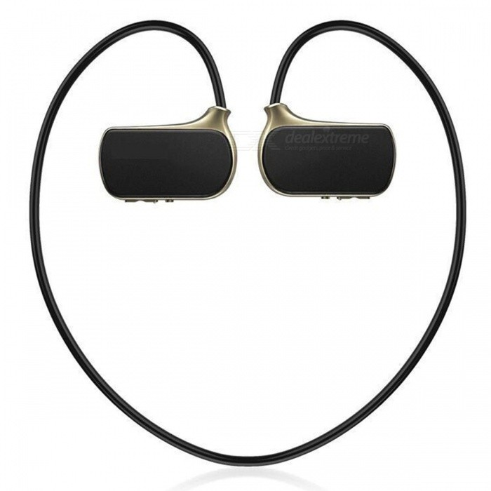KELIMA W273 Sports MP3 Music Player Wireless Headphones Headset Earphones for Running Jogging - Black + Golden (8GB)MP3 Players<br>Form  ColorBlack + GoldenBuilt-in Memory / RAM8GBModelW273Quantity1 setMaterialABSShade Of ColorGoldTouch Screen TypeNoScreen Size0 cmScreen Resolution0Screen Color0Memory Card TypeNoMax Extended Capacity0Audio Compression FormatMP3VideoWMVImagesJPEGHeadphone JackOthers,USBOther InterfaceUSBBattery Capacity180 mAhWorking Time24 hourBattery TypeLi-ion batteryPower Supply5VPower AdapterUSBLoud Speaker Function NoLyrics DisplayNoMenu LanguageOthersAudio ModeNatural,DancingPacking List1 x MP3 Player1 x USB Cable<br>