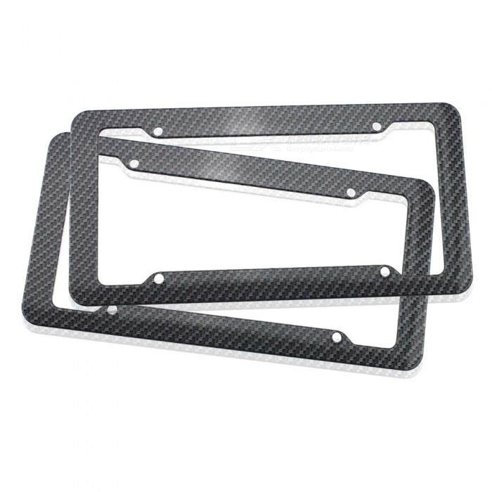 Car Vehicle ABS Plastic License Plate Frame Protective Case - Black ...