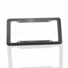 Car Vehicle ABS Plastic License Plate Frame Protective Case - Black (2PCS)