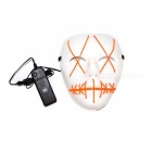 YWXLight Halloween Ghost Slit Mouth Light Up Luminescence Mask for Party Prop - Orange