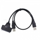 BLCR USB 2.0 to 7 15 22pin SATA Converter Adapter Cable with External Power for 2.5'' SSD HDD Hard Disk Drive