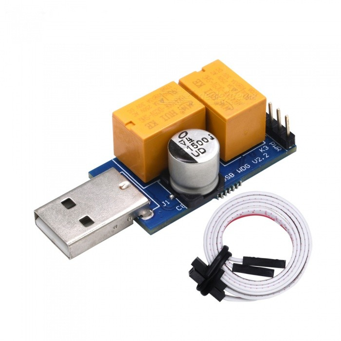 BLCR Double Relay USB WatchDog Card with 24H Blue Screen Unattended Automatic Restart for PC Computer Gaming Mining Miner