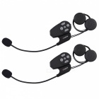 LEXIN LX-MAX2 Bluetooth Wireless Motorcycle Helmet Intercom Interphone Headset (Dual Pack)