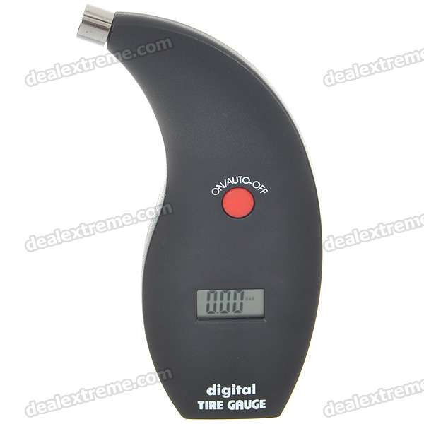 "Portable Handheld 1.0"" LCD Digital Reifen Manometer - Schwarz (1 * CR2032)"