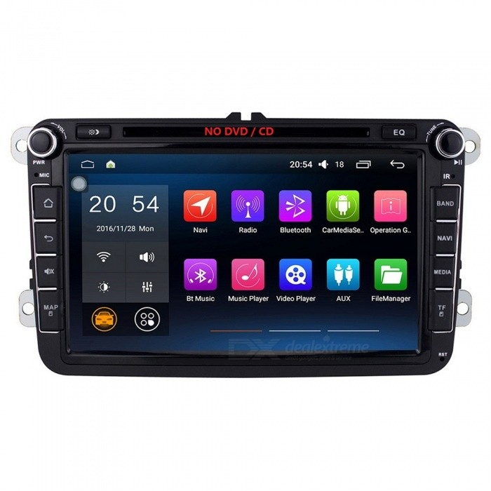 Joyous J-8813-8N6.0 8 HD 1024 * 600 Android 6.0.1 Car Radio with Bluetooth Microphone for the Public Tiguan / POLO / GolfkCar DVD Players<br>Form  ColorBlackModelJ-8813-8N6.0Quantity1 DX.PCM.Model.AttributeModel.UnitMaterialPCB + electrolysis plate + plasticStyle2 Din In-DashFunctionOthers,(Wifi/4G,OBD2,DVR,MIRROR LINK) , Built-in speaker , GPS , Dual Zone , Subwoofer Output , Radio , Steering Wheel ControlCompatible MakeOthers,VWCompatible Car ModelVolkswagen Passat B6 / B7 / Passat CC / Jetta / Polo / Golf / Caddy /Tiguan / Touran / Skoda Octavia / Superb / Yeti / Fabia / Seat Leon / Seat Altea / Toledo / SciroccoCompatible YearOthers,2007 , 2008 , 2009 , 2010 , 2011 , 2012 , 2013 , 2003 , 2004 , 2005 , 2006Screen SizeOthers,8.0 inchesScreen Resolution1024 x 600Touch Screen TypeYesDetachable PanelNoBrightness ControlYesMenu LanguageOthers,English , Greek , Danish , Norwegian , Dutch , Arabic , Turkish , Japanese , Bahasa Indonesia , Korean , Thai , French , Maltese , Hungarian , Latin , Persian , Malay , Slovak , Czech , Greek , Romanian , Swedish , German , Finnish , Chinese Simplified , Chinese Traditional , Bulgarian , Norwegian , Hebrew , Italian , Spanish , Portuguese , Russian , Vietnamese , PolishCPU ProcessorIntel ATOM 1.2GH(X4) Quad-CoreSupport MapIGO,TOMTOM,Garmin,Sygic,CarelandMain FrequencyOthers,1.2 DX.PCM.Model.AttributeModel.UnitStore CapacityOthers,1 DX.PCM.Model.AttributeModel.UnitMemory Card SlotStandard TF CardVoice Guidance CruiseYesGPS Dual ZoneYesOperating SystemOthers,Android 6.0.1Audio FormatsMP3,WMA,APE,FLAC,OGG,AC3,DTS,AACVideo FormatsOthers,RM , PMP , AVC , FLV , VOB , MPG , DAT , MPEG , H.264 , MPEG1 , MPEG2 , RMVB , MPEG4 , WMV , TP , AVI , DIVX , MKV , MOV , HDMOV , MP4 , M4VPicture FormatsJPEG,BMP,PNG,GIF,TIFF,jps(3D),mpo(3D)Support RDSfor European countriesRadio TunerAM,FMRadio Response BandwidthAM: 520KHz-1700KHz,FM: 87MHz-110MHzStation Preset Qty.30 stationsRDSYesBuilt-in MicrophoneYesBluetooth FunctionReceived Call,Dialled CallBluetooth VersionOthers,Bluetooth V5.1Amplifier Peak Power4 x 45 DX.PCM.Model.AttributeModel.UnitAudio ModeNatural,Rock,Jazz,Classical,Live,Dancing,PopularInterface PortUSB,TFAudio Input1 channelAudio  Output2 ChannelsRearview Camera InputYesExternal Memory Max. Support32 DX.PCM.Model.AttributeModel.UnitVideo Input1 channelVideo OutputOthers,NOWorking Voltage   12 DX.PCM.Model.AttributeModel.UnitWorking Temperature-20 ~+70 DX.PCM.Model.AttributeModel.UnitStorage Temperature-30 ~+80COther FeaturesBuilt-in Wi-FiCertificationCEPacking List1 x Car radio1 x Volkswagen special power cable (25cm) 1 x Canbus decoding box1 x GPS Antenna (300cm) 1 x External Bluetooth MIC (150cm)1 x English manual<br>