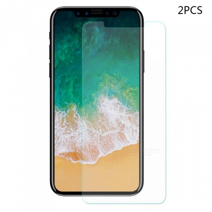 Mini Smile 0.2mm 9H Hardness Explosion-Proof Anti-scratch Tempered Glass Screen Protector for IPHONE X (2PCS)Screen Protectors<br>Screen Typecustom10029ModelIX-TPQuantity1 setMaterialTempered GlassForm  ColorTransparentCompatible ModelsiPhone XStyleScreen protectorScreen FeaturesScratch Proof,Fingerprint Proof,Explosion ProofPacking List2 x Screen protectors2 x Wipes2 x Dust stickers2 x Wet wipes<br>