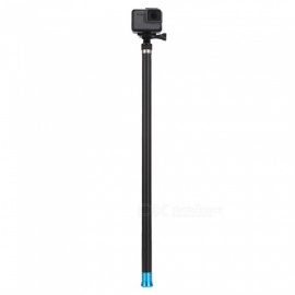 TELESIN Handheld Long Carbon Fiber Monopod Extendable Pole Selfie Stick for Gopro Hero 6/5/4  (270CM)