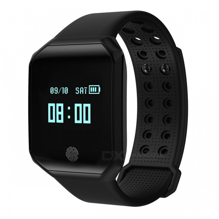Z66 IP67 Waterproof Smart Bracelet with Pedometer, Heart Rate Monitor - BlackSmart Bracelets<br>Form  ColorBlackQuantity1 setMaterialABSShade Of ColorBlackWater-proofIP67Bluetooth VersionOthers,Bluetooth V4.2Touch Screen TypeYesCompatible OSAndroid 4.4 or above, IOS 7.0 or above, Bluetooth 4.0 supportBattery Capacity100 mAhBattery TypeLi-polymer batteryStandby Time10 daysPacking List1 x User Manual1 x USB Cable1 x Z66 Smart Bracelet<br>