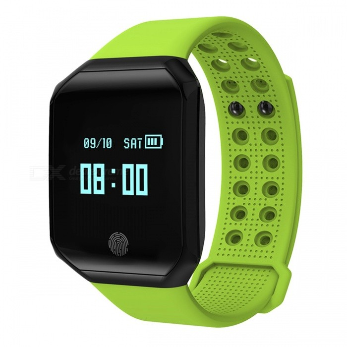 Z66 IP67 Waterproof Smart Bracelet with Pedometer, Heart Rate Monitor - GreenSmart Bracelets<br>Form  ColorGreen + BlackQuantity1 DX.PCM.Model.AttributeModel.UnitMaterialABSShade Of ColorGreenWater-proofIP67Bluetooth VersionOthers,Bluetooth V4.2Touch Screen TypeYesCompatible OSAndroid 4.4 or above, IOS 7.0 or above, Bluetooth 4.0 supportBattery Capacity100 DX.PCM.Model.AttributeModel.UnitBattery TypeLi-polymer batteryStandby Time10 DX.PCM.Model.AttributeModel.UnitPacking List1 x User Manual1 x USB Cable1 x Z66 Smart Bracelet<br>