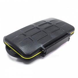Professional Rainproof Shockproof Protective Memory Card Box with 24 Card Slots for SD TF Card - Black