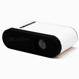 GC20 Portable LCD Projector, Support HD Video for Home Theater Cinema / Game / TV - White (EU Plug)