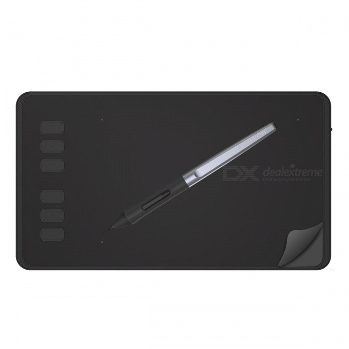 HUION H640P Slim Compact 8192/5080 Drawing Graphics Tablet - BlackForm  ColorBlackModelH640PQuantity1 DX.PCM.Model.AttributeModel.UnitMaterialABSInterfaceUSB 2.0Powered ByUSBSupports SystemWindows 10,Win xp,Win 2000,Win 2008,Win vista,Win7 32,Win7 64,Win8 32,Win8 64,MAC OS XPacking List1 x Graphics Tablet1 x Battery-free Pen1 x Micro USB Cable1 x Pen Holder (8 Nibs inside and Integrated with Clip)1 x Quick Start Guide<br>