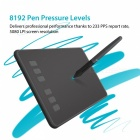 HUION H640P Slim Compact 8192/5080 Drawing Graphics Tablet - Black