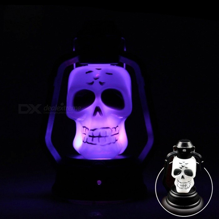 YWXLight Skull Halloween Festival RGB LED Flash Lantern Night Light LampLED Nightlights<br>Form  ColorSkull MaterialPCQuantity1 DX.PCM.Model.AttributeModel.UnitPower1WRated VoltageOthers,DC 5 DX.PCM.Model.AttributeModel.UnitColor BINRGBEmitter TypeLEDTotal Emitters1Theoretical Lumens100-200 DX.PCM.Model.AttributeModel.UnitActual Lumens75 DX.PCM.Model.AttributeModel.UnitColor Temperature12000K,OthersDimmableNoBeam Angle360 DX.PCM.Model.AttributeModel.UnitInstallation TypeOthersPacking List1 x YWXLight LED Lamp3 x AG13 Batteries<br>