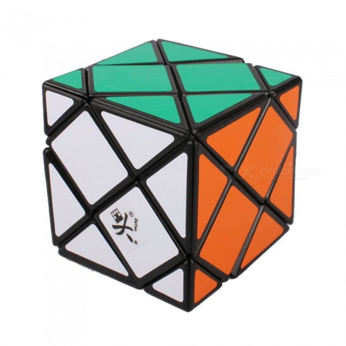 DaYan Dino Skewb Speed Cube Smooth Magic Cube Puzzles Toy Brain Teaser Educational Toy for Kids Children - BlackMagic IQ Cubes<br>Form  ColorBlackModelN/AMaterialABSQuantity1 pieceTypeOthersSuitable Age 3-4 years,5-7 years,8-11 years,12-15 years,Grown upsPacking List1 x Magic Cube<br>