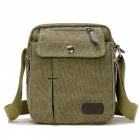 Outdoor Travel Premium Canvas Shoulder Bag for Men - Army Green