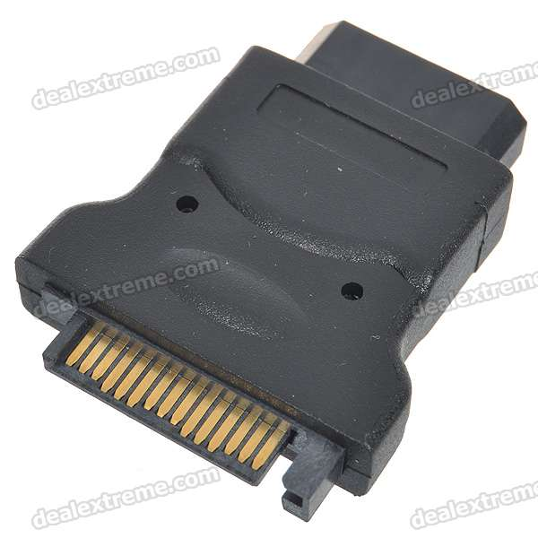 SATA 15-Pin Male to 4-Pin Female Adapter Convertor sata 22 pin male to micro sata 16 pin female power adapter