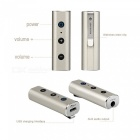 Mini Bluetooth V4.2 Wireless Car Kit 3.5mm AUX Clip-On Music Player