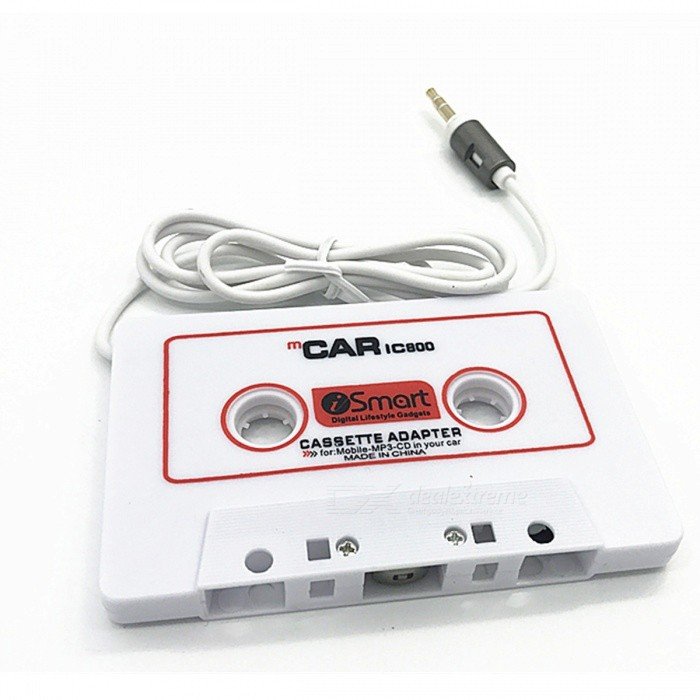 KELIMA W800 Car Tape Converter, Cassette Adapter - WhiteAudio Accessories<br>Form  ColorWhiteModelW800Quantity1 DX.PCM.Model.AttributeModel.UnitMaterialABSFunctionSuitable for: other tape players such as car carts (car harvesters), tape recorders, etc. Role: Music of other MP3s, MP4s, CDs, MDs, computers, mobile phones, etc., through this tape converter, to the tape player Specifications: Plug is an ordinary 3.5 stereo plug, suitable for most mp3, mp4, computer and other playback devices. Use: the converter like a tape into the tape player, press the play button, the converter plug into the players headphone jack on it, the volume is large, good sound quality, even the recorders transmission or The motor is broken, still can play a beautiful musicInterface/Port3.5mmPower0 DX.PCM.Model.AttributeModel.UnitPacking List1 x Tape converter<br>