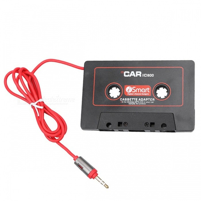 KELIMA W800 Car Tape Converter,  Cassette Adapter - BlackAudio Accessories<br>Form  ColorBlackModelW800Quantity1 setMaterialABSFunctionSuitable for: other tape players such as car carts (car harvesters), tape recorders, etc. Role: Music of other MP3s, MP4s, CDs, MDs, computers, mobile phones, etc., through this tape converter, to the tape player Specifications: Plug is an ordinary 3.5 stereo plug, suitable for most mp3, mp4, computer and other playback devices. Use: the converter like a tape into the tape player, press the play button, the converter plug into the players headphone jack on it, the volume is large, good sound quality, even the recorders transmission or The motor is broken, still can play a beautiful musicInterface/Port3.5mmPower0 WPacking List1 x Tape converter<br>