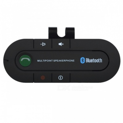 Car Sunvisor Bluetooth V4.1 Speakerphone, Supports Hands-Free Call, Music Play - Black