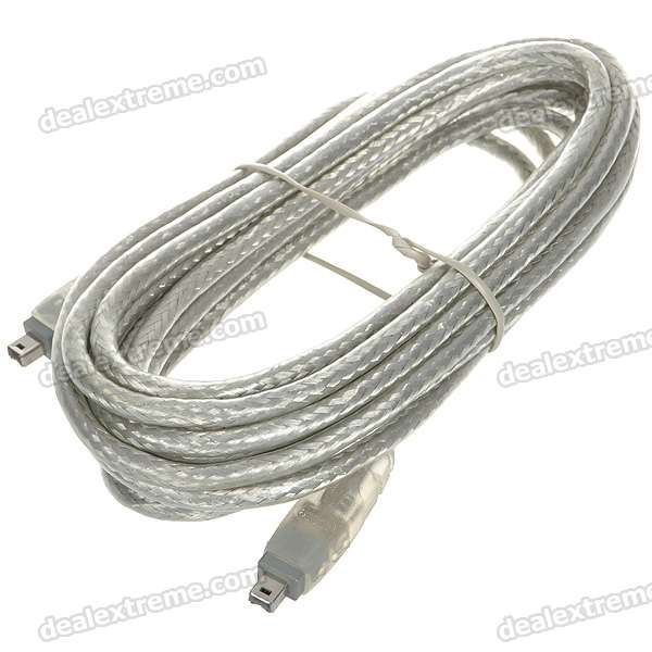 1394 4-Pin Male to Male Cable (5m-Length) delonghi fh 1394 white