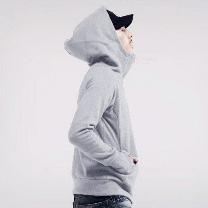 Fashion Mens Hooded Sweater Zippered Jacket - Gray (XXL)Jackets and Coats<br>Form  ColorGreySizeXXLQuantity1 DX.PCM.Model.AttributeModel.UnitShade Of ColorGrayMaterialPolyesterStyleFashionTop FlyZipperShoulder Width47.5 DX.PCM.Model.AttributeModel.UnitChest Girth120 DX.PCM.Model.AttributeModel.UnitSleeve Length78 DX.PCM.Model.AttributeModel.UnitTotal Length69 DX.PCM.Model.AttributeModel.UnitSuitable for Height165-190 DX.PCM.Model.AttributeModel.UnitPacking List1 x Jacket<br>