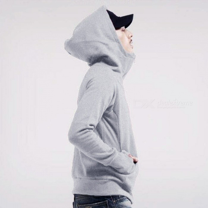 Fashion Mens Hooded Sweater Zippered Jacket - Gray (L)Jackets and Coats<br>Form  ColorGreySizeLQuantity1 DX.PCM.Model.AttributeModel.UnitShade Of ColorGrayMaterialPolyesterStyleFashionTop FlyZipperShoulder Width45.5 DX.PCM.Model.AttributeModel.UnitChest Girth108 DX.PCM.Model.AttributeModel.UnitSleeve Length72 DX.PCM.Model.AttributeModel.UnitTotal Length65 DX.PCM.Model.AttributeModel.UnitSuitable for Height165-180 DX.PCM.Model.AttributeModel.UnitPacking List1 x Jacket<br>