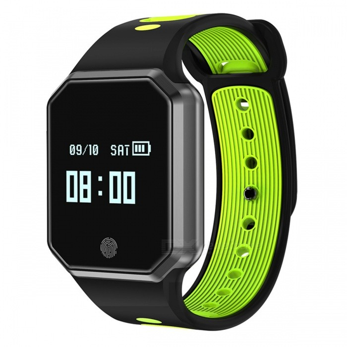QW11 Waterproof Detachable Smart Bracelet with Oxygen Blood Pressure, Heart Rate Monitor - GreenSmart Bracelets<br>Form  ColorGreen + Brown + Multi-ColoredModelQW11Quantity1 setMaterialABSShade Of ColorGreenWater-proofIP67Bluetooth VersionOthers,Bluetooth V4.2Touch Screen TypeYesCompatible OSAndroid 4.4 and above; iOS 8.0 and aboveBattery Capacity100 mAhBattery TypeLi-polymer batteryStandby Time16 daysPacking List1 x Bluetooth Smart Wristband1 x User Manual1 x Charger cable<br>