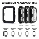 Protective Bumper Case Shock-proof Shatter-resistant Cover for 38mm Apple Watch Series 3/2/1, Nike+ Sport Edition - Black