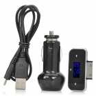 "Full Range 0.7"" LCD FM Transmitter with Car Charger for iPod/iPhone 4 (DC 12~24V)"