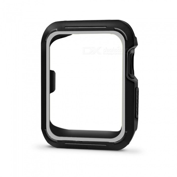 new style abf5e d7f53 Protective Bumper Case Shock-proof Shatter-resistant Cover for 38mm Apple  Watch Series 3/2/1, Nike+ Sport Edition - Grey