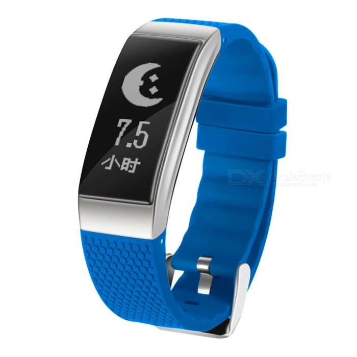 IP68 Waterproof Smart Bracelet with Oxygen Blood Pressure, Heart Rate Monitor - BlueSmart Bracelets<br>Form  ColorBlue + BlackQuantity1 setMaterialABSShade Of ColorBlueWater-proofIP68Bluetooth VersionBluetooth V4.0Touch Screen TypeYesCompatible OSAndroid 4.4 and above, BT 4.0 aboveBattery Capacity90 mAhBattery TypeLi-polymer batteryStandby Time240 hoursPacking List1 x Smart Bracelet1 x USB Cable1 x User Manual<br>